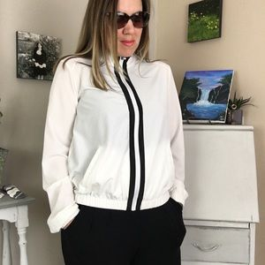 Forever 21 White Perforated Athletic Jacket